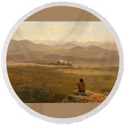 The Lookout Round Beach Towel