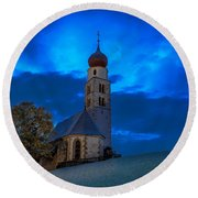 The Lord Is My Light - The Italian Dolomites Round Beach Towel