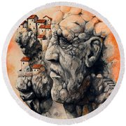 The Lost City - The Sentinel Round Beach Towel