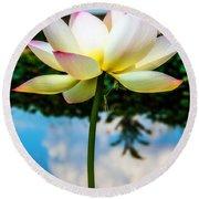 The Lotus Blossom Round Beach Towel