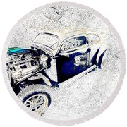 The Love Bug Round Beach Towel