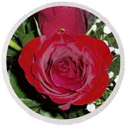 The Lovely Rose Round Beach Towel