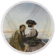 The Lovers Round Beach Towel