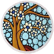 The Loving Tree Round Beach Towel