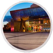 The Lowry Complex At Dusk, Salford Round Beach Towel