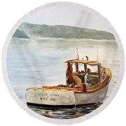 The Lyllis Esther Round Beach Towel by Lee Piper