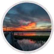 The Magic Hour Round Beach Towel