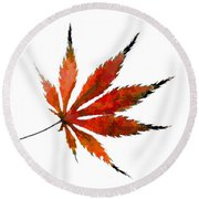 The Magical Colors Of Fall Round Beach Towel