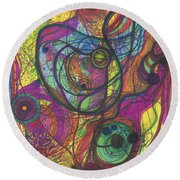 The Magnificence Of God Round Beach Towel