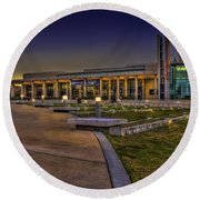 The Mahaffey Theater Round Beach Towel by Marvin Spates