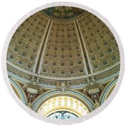 The Main Reading Room Library Of Congress Round Beach Towel
