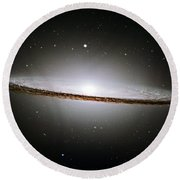 The Majestic Sombrero Galaxy Round Beach Towel