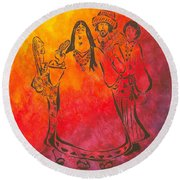 The Mamas And Papas Round Beach Towel by Pamela Allegretto