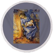 The Man Is At Sea - After Demont-breton Round Beach Towel