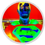 The Man Of Steel Round Beach Towel
