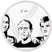 the Mannings Round Beach Towel