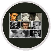 James Dean The Many Faces Round Beach Towel