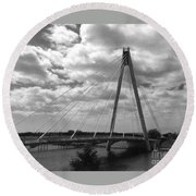 The Marine Road Bridge Southport Round Beach Towel
