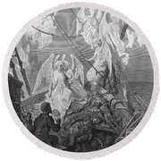 The Mariner Sees The Band Of Angelic Spirits Round Beach Towel