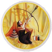 The Markswoman Round Beach Towel by Shelley Irish