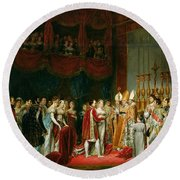 The Marriage Of Napoleon I 1769-1821 And Marie Louise 1791-1847 Archduchess Of Austria, 2nd April Round Beach Towel