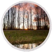 The Marsh Round Beach Towel