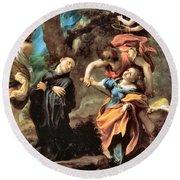 The Martyrdom Of Four Saints Round Beach Towel