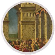 The Massacre Of The Innocents Round Beach Towel