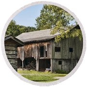 The Mathias Homestead Built In 1797 At Mathias West Virginia Round Beach Towel