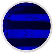 The Max Face In Blue Round Beach Towel