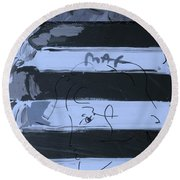 The Max Face In Cyan Round Beach Towel
