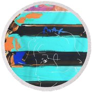 The Max Face In Inverted Colors Round Beach Towel
