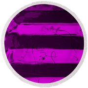 The Max Face In Purple Round Beach Towel