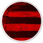 The Max Face In Red Round Beach Towel
