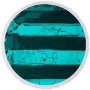 The Max Face In Turquois Round Beach Towel
