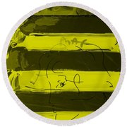 The Max Face In Yellow Round Beach Towel