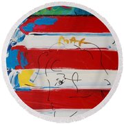 The Max Face  Round Beach Towel