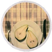 The Meal Of The Day Round Beach Towel