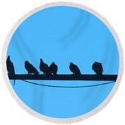 The Meeting Place Round Beach Towel