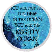 The Mighty Celtic Ocean Round Beach Towel