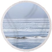 The Mighty Migration Round Beach Towel