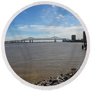 The Mighty Mississippi Round Beach Towel
