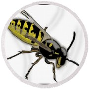 The Mighty Wasp Round Beach Towel