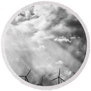 The Mighty Wind Palm Springs Round Beach Towel