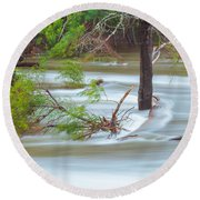 The Milky River Round Beach Towel