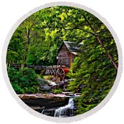 The Mill Paint 2 Round Beach Towel