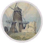 The Mill St Benet's Abbey Round Beach Towel