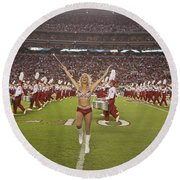 The Million Dollar Marching Band Of The University Of Alabama Round Beach Towel
