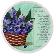 The Miracle Of Friendship Round Beach Towel