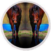 The Mirror Round Beach Towel
